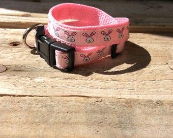 Little Bunnies Print Dog Collar