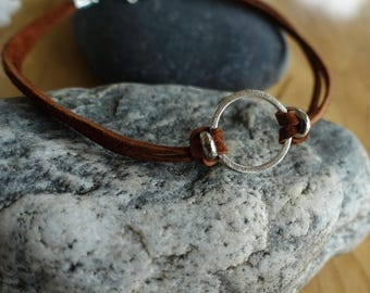 Suede Choker with Silver Ring