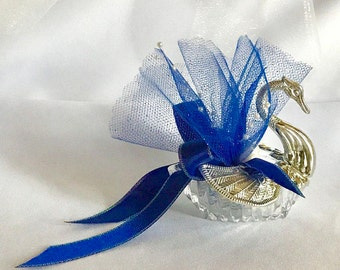 12 Handmade (Hand-finished) Swan Party Favors For Weddings, Bridal Showers, Birthdays, Party Decors, or Any Special Occasion; Package of 12