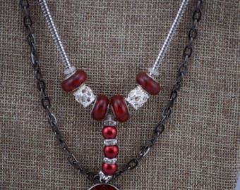 Red Chinese Pandora Necklace