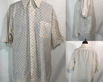1970's | Mens Button Up | The King Size Comp.
