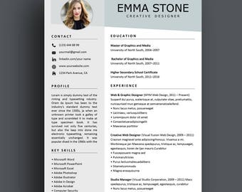 creative resume etsy - Creative Resume
