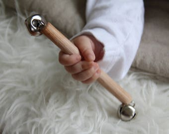 Bell Rattle - Montessori Infant Toys - First Rattle