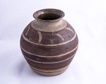 Studio Pottery Vase by Elsie M