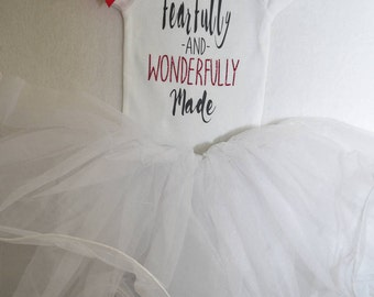 Fearfully&Wonderfully Made Onesie (3-6 months)