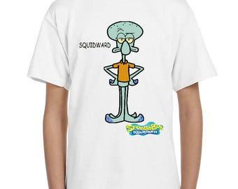 spongebob squarepants - SQUIDWARD - childrens tv -  childrens  - t-shirt