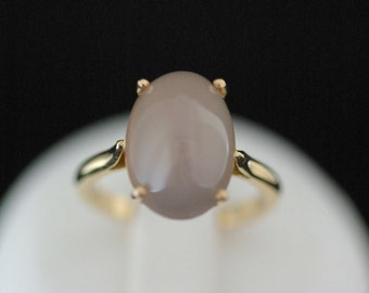 Ring yellow gold and Moonstone / Moonstone set in Gold