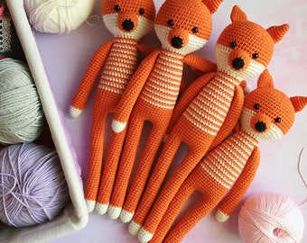 Stuffed fox/Crochet fox/Amigurumi animal/Nursery decor/Amigurumi fox/Gift for baby/Knitted fox/Plush fox/Crochet toy/Babyshower gift/Fox toy