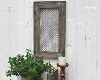 Rustic Metal and Wood Wall Hanging