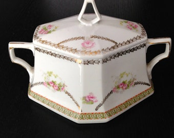 Antique Porcelain sugar bowl MZ Austria