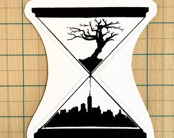 Earth's Hourglass Sticker