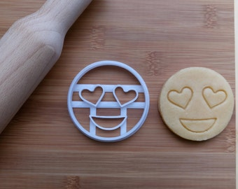 Heart Eyes Emoji Cookie Cutter / Biscuit Cutter 3D Printed