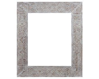 Ethnic frame for mirror 50X60, morocco mirror, moroccan mirror, african mirror, traditional mirror, authentic mirror, wood mirror
