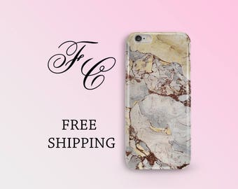 Grey Marble iPhone 6s Case Marble iPhone 7 Case Cream Marble iPhone Case iPhone SE Stone iPhone 7 Plus Case Gray Marble iPhone 6 Plus Case