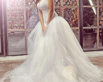 Wedding dress , unique wedding gown, champagne dress,sexy wedding dress, bridal gowns,Ball gown wedding dress