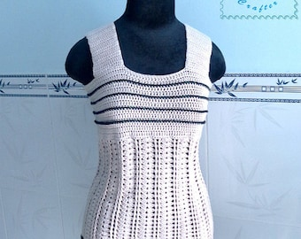 Crocheted wide strap tank top - free worldwide shipping