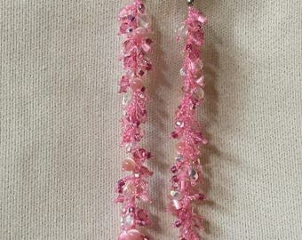 Party on your Ear - Extra long beaded earrings