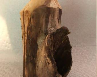 Hand Crafted Wooden Bottle / Vase!