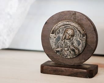 Old Wooden Mary Decoration - Small