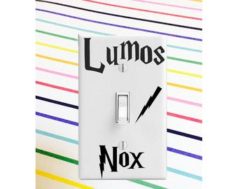 Harry Potter Decal || Lumos Nox HP Decal || HP Decal || Harry Potter Lumos Nox Sticker || Harry Potter Light Switch Plate Decal Sticker