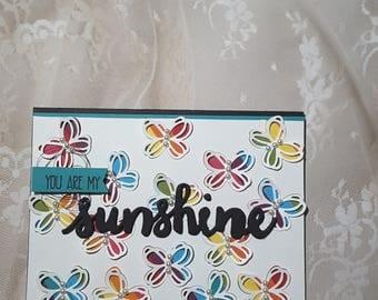butterfly sunshine card
