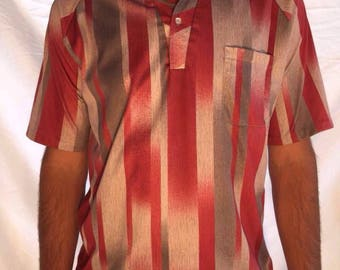 Vintage 70s Medium Lilly  Dache men's polo made in US