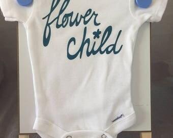 Newborn Baby Onesie Flower Child