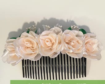 The Magnificent Roses Hair Comb Accessories (Handmade)