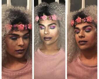 Pink Rose Crystal Crown