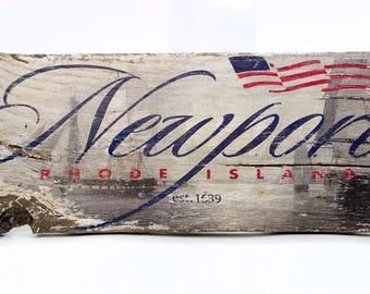 Newport, RI est 1639 on reclaimed barnwood