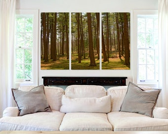 Lime Green Forest - Canvas Art