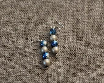 Handmade Glass Pearl Earrings