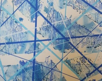 Blue Painting On Canvas