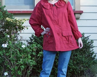 Red Collared 90s Vintage Jacket