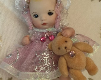 Miniature Baby Doll Ornament
