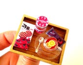 Ring THE TEA TRAY -- Ring with miniature tray, lemon tea tray by The Sausage