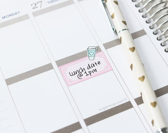10 decorative, planner sticker frames - perfect for highlighting appointments and reminders in your diary, notebook, bullet joural - FRM1