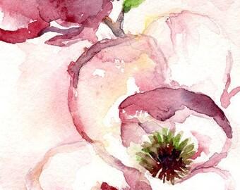 Watercolor Magnolias Original Painting, Magnolia Art, Magnolia Decor