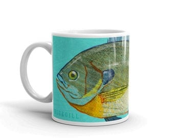 Fishing Gifts for Men- Gifts for Dad- Husband Gift- Fish Mug- Bluegill Mug- Fishing Gift- for Fisherman Gift- Fish Gift for Him