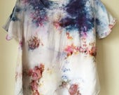 Hand Dyed Scoop Neck Blouse in Super Nova, Anna Joyce, Portland, OR