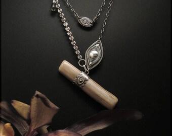 N1533 Sterling Silver Seeker Pendant Necklace
