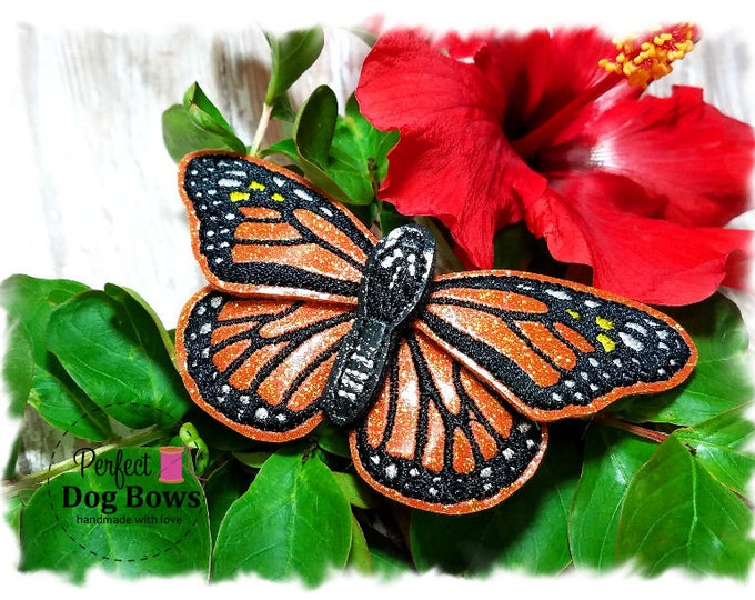 Collar Accessories, Collar Bow, Butterfly Collar Bow Tie, Monarch Butterfly Harness Bow, Dog Collar Bow