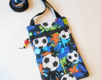 Soccer Purse with Long Strap, Skinny Strap Shoulder Purse, Zipper Shoulder Bag, Crossbody Purse