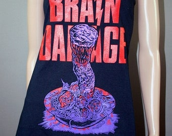 Brain Damage Horror Movie Slouch Tank Top Shirt