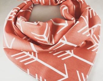 Dog Bandana, Cat Bandana, Coral Bandana, Pet Bandana, Tie On Bandana, Pet Scarf, Dog Neckwear, Pet Gift, Dog Lover Gift, New Puppy
