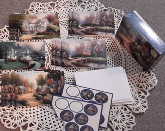Vintage Thomas Kinkade note card set, stationary set, blank card