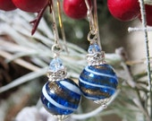 Sihaya Designs Ornaments - Navy Blue Swirl in Sterling Silver
