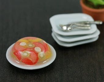 Fruit Jelly Cake - 1:12 Dollhouse Miniature Dessert