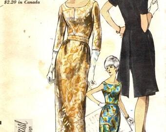 Vogue 6711 SPECIAL DESIGN Cocktail Dress Bust 38 Back Panels 1960s