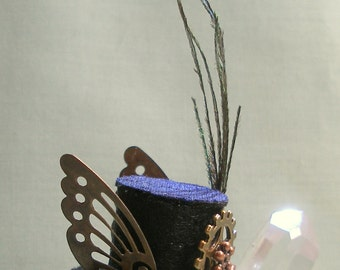 Miniature Steampunk Top Hat for a 1:12 Scale Doll